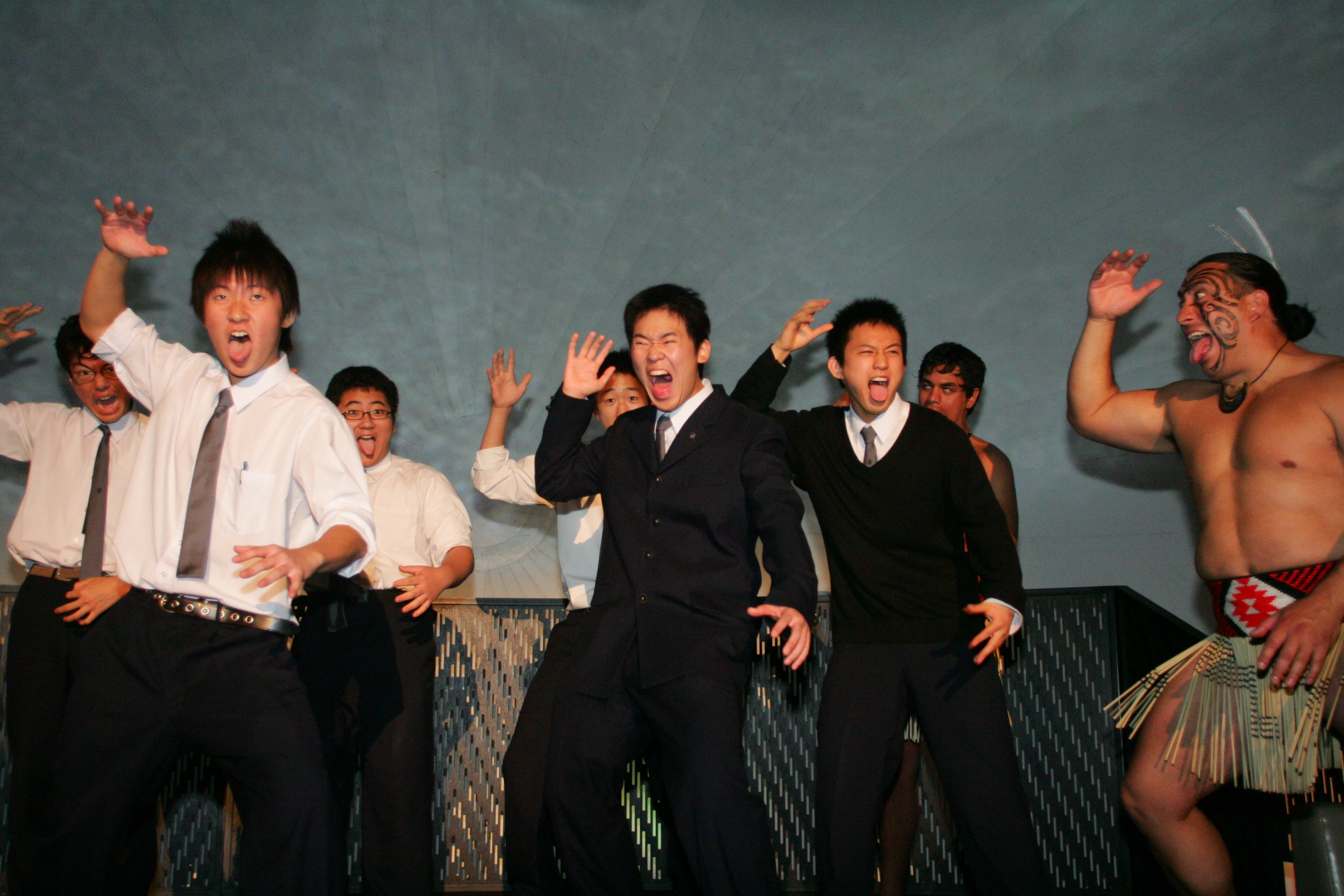 Japanese Students Do Haka In Ball