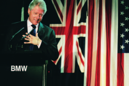 Bill Clinton @ Bmw 7 Series Car Launch