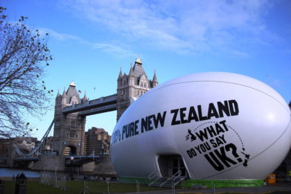 Tourism NZ – Rugby Ball, London